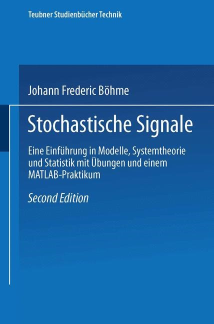 Abbildung von Böhme   Stochastische Signale   erweitert, überarbeitet   1998