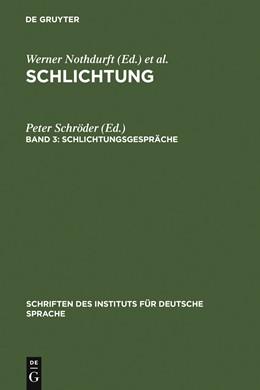 Abbildung von Schröder | Schlichtungsgespräche | 1997 | 1997 | Ein Textband mit einer exempla... | 5.3