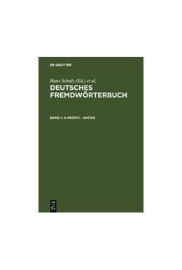 Abbildung von a-Präfix - Antike | 2. völlig neu bearb. Aufl. 1995 | 1996 | Band 1: a-Präfix - Antike  Deu...