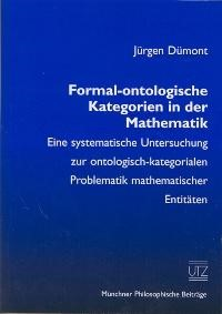 Formal-ontologische Kategorien in der Mathematik | Dümont, 2000 | Buch (Cover)