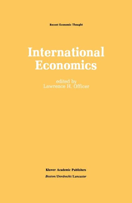 International Economics | Officer, 1987 | Buch (Cover)