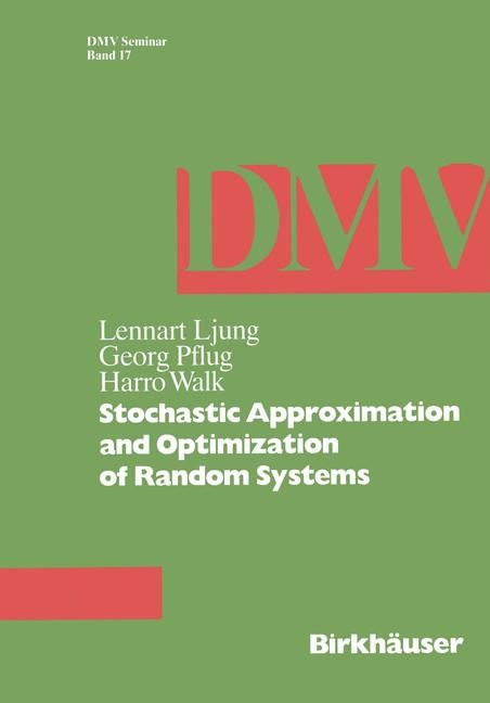 Stochastic Approximation and Optimization of Random Systems | Ljung / Pflug / Walk, 1992 | Buch (Cover)