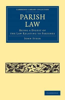 Abbildung von Steer | Parish Law | 2011 | Being a Digest of the Law Rela...