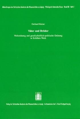 Väter und Brüder | Kaiser, 2007 | Buch (Cover)