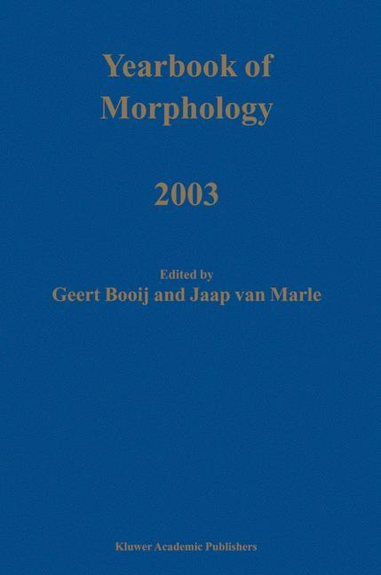 Abbildung von Booij / van Marle   Yearbook of Morphology 2003   2003