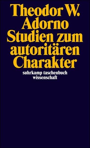 Abbildung von Adorno | Studien zum autoritären Charakter | 1995