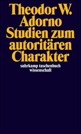 Abbildung von Adorno   Studien zum autoritären Charakter   12. Auflage   1995   1182   beck-shop.de