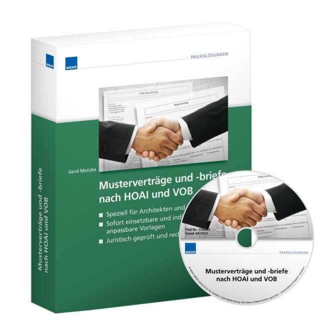 Musterverträge und -briefe nach HOAI und VOB | Motzke, 2011 | Buch (Cover)