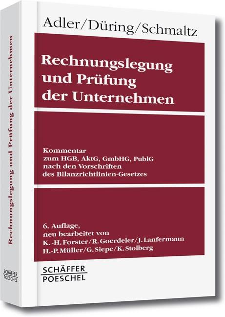 Rechnungslegung und Prüfung der Unternehmen (Gesamtausgabe) | Adler / Düring / Schmaltz, 2016 | Buch (Cover)