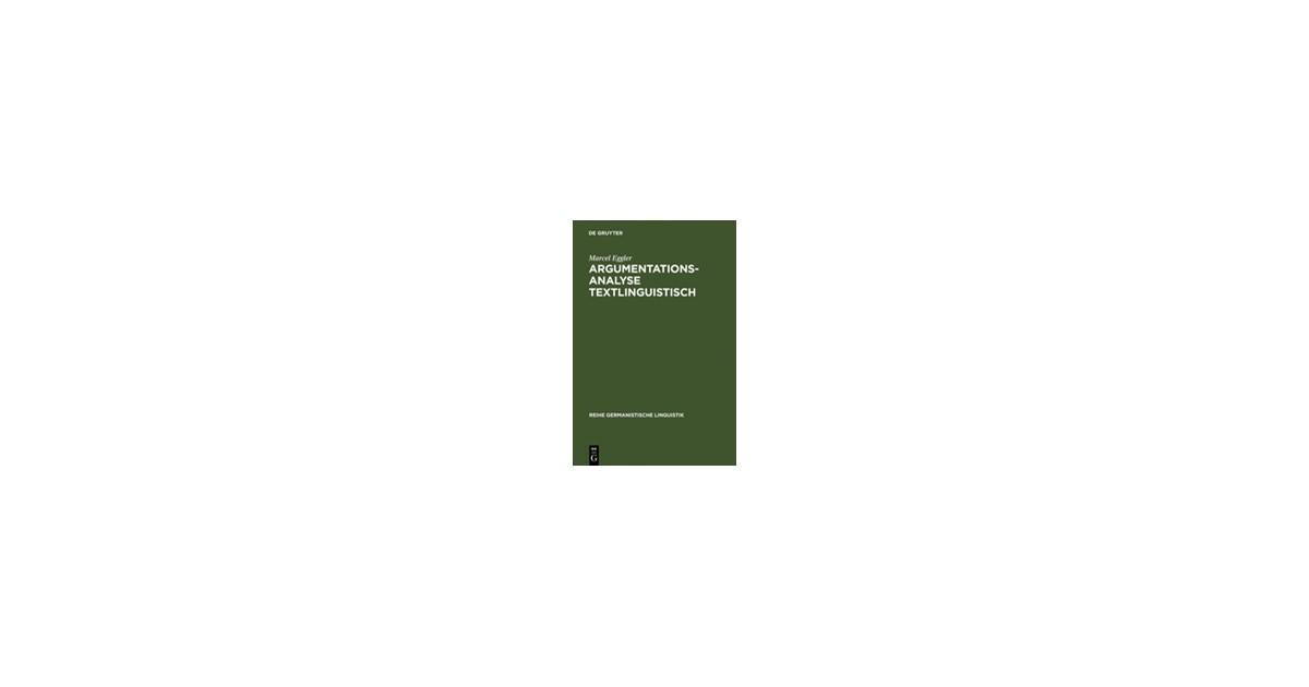 argumentationsanalyse textlinguistisch eggler marcel