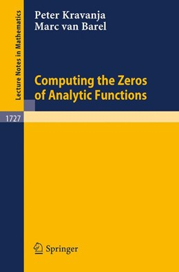 Abbildung von Kravanja / Barel | Computing the Zeros of Analytic Functions | 2000 | 1727
