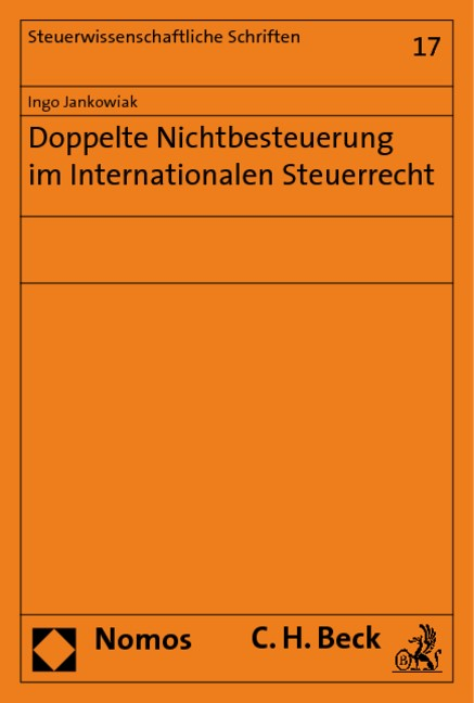 Doppelte Nichtbesteuerung im Internationalen Steuerrecht | Jankowiak, 2019 | Buch (Cover)