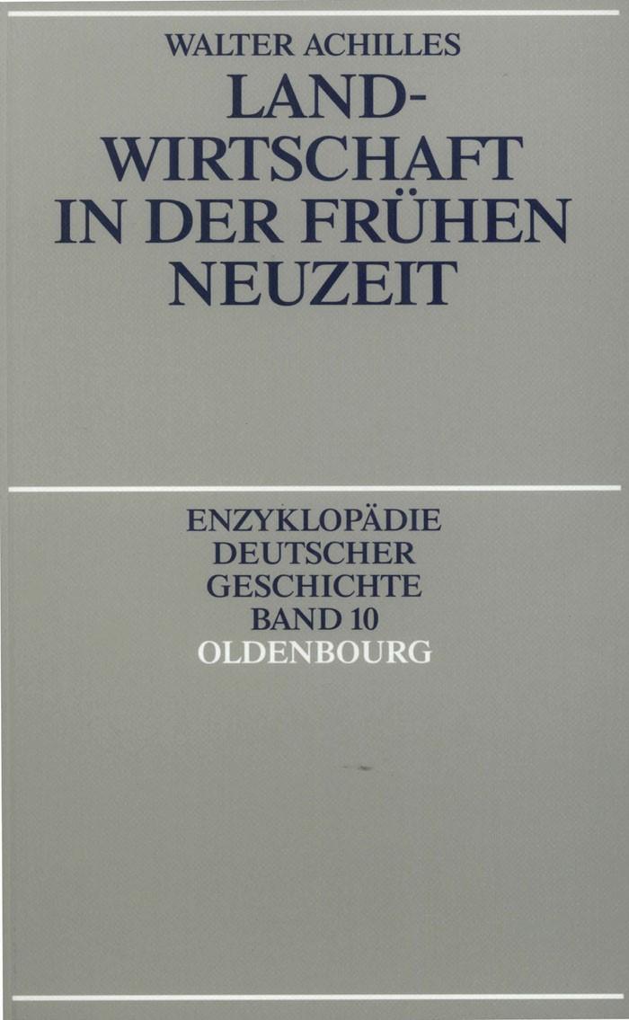 Landwirtschaft in der Frühen Neuzeit | Achilles, 1991 | Buch (Cover)