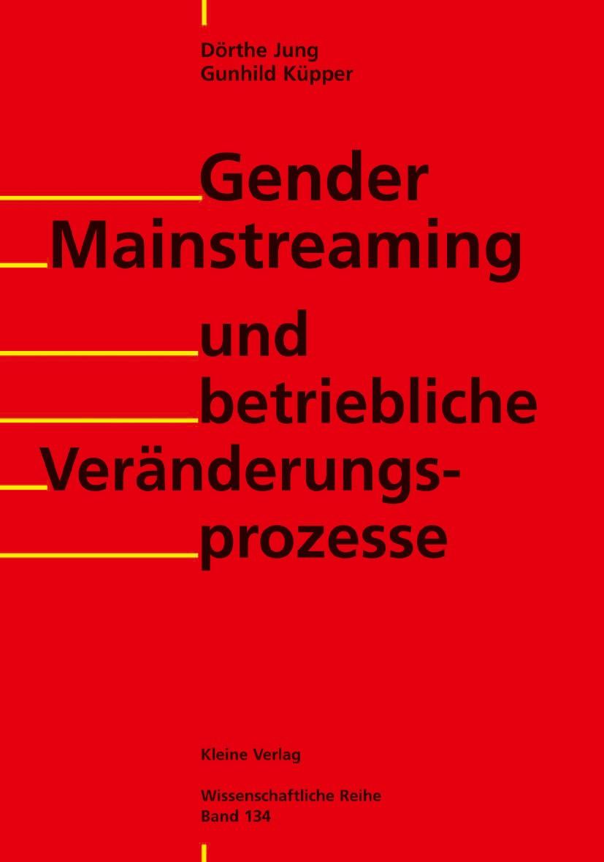 Gender Mainstreaming und betriebliche Veränderungsprozesse | Jung / Küpper, 2001 | Buch (Cover)