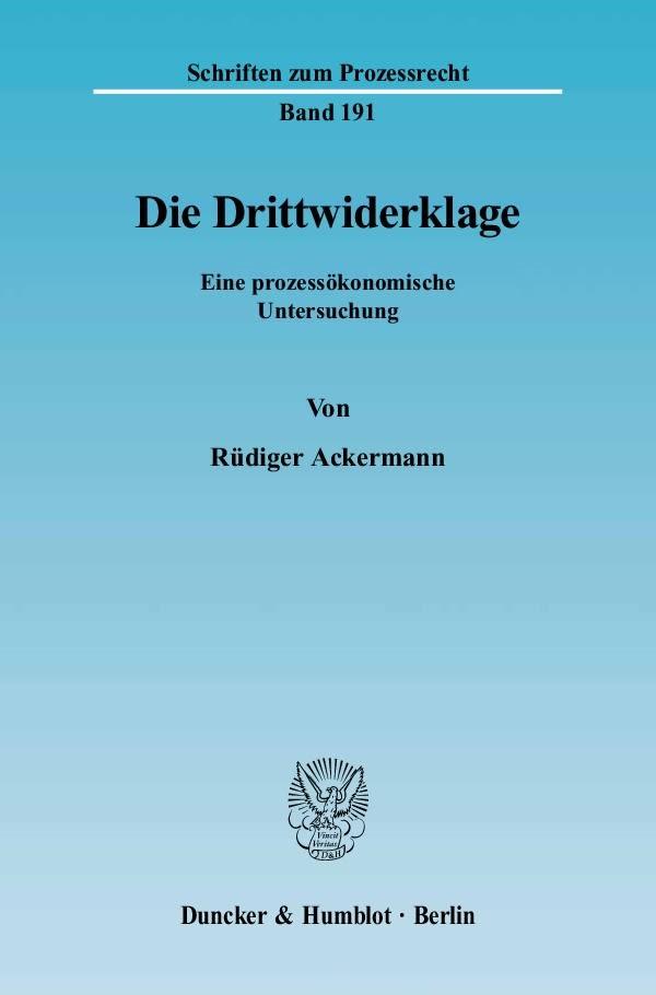 Die Drittwiderklage.   Ackermann, 2005   Buch (Cover)