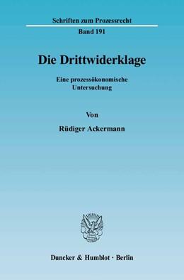 Abbildung von Ackermann | Die Drittwiderklage. | 2005 | Eine prozessökonomische Unters... | 191