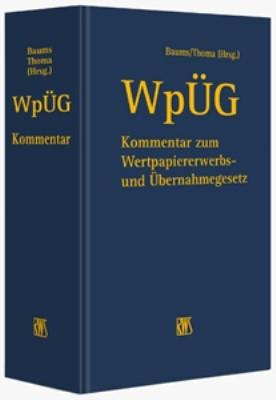 WpÜG   Baums / Thoma (Hrsg.)   Loseblattwerk mit 11. Aktualisierung, 2011 (Cover)