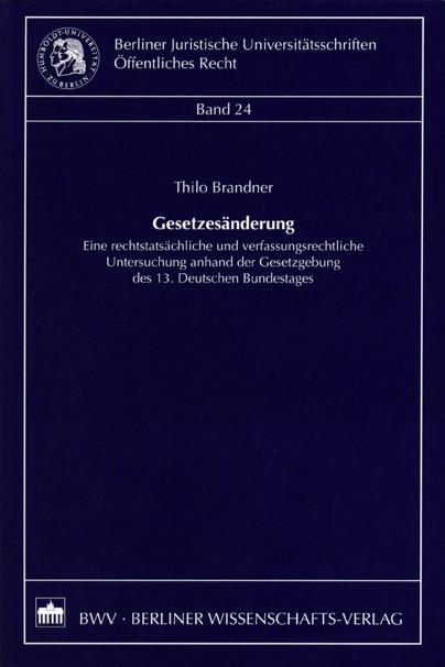 Gesetzesänderung | Brandner, 2004 | Buch (Cover)