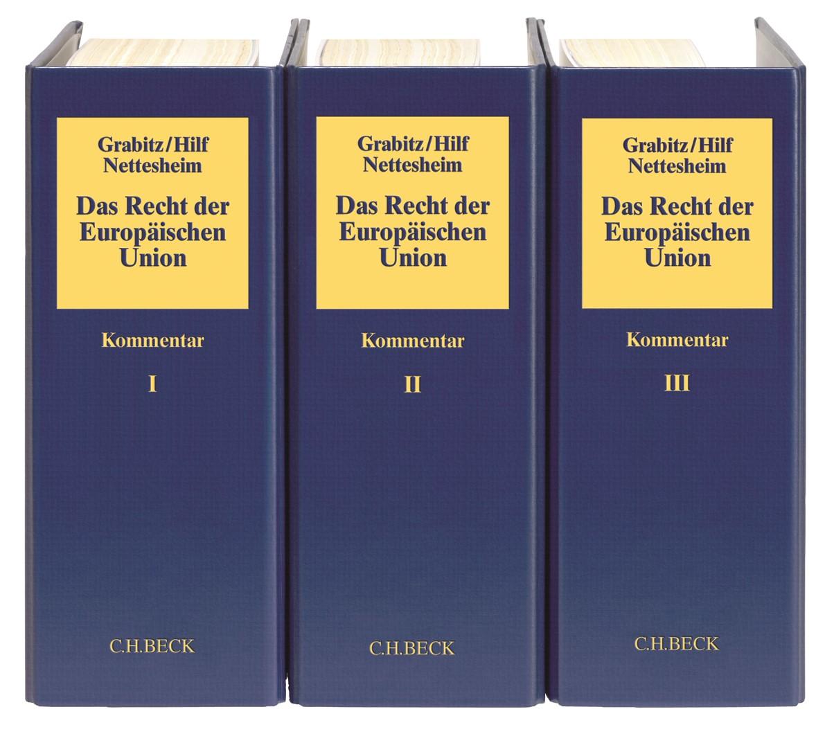 Das Recht der Europäischen Union: EUV/AEUV   Grabitz / Hilf / Nettesheim   65. Auflage (Cover)
