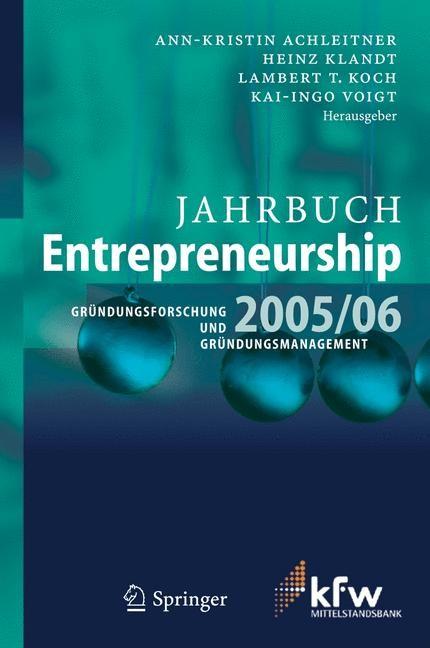 Jahrbuch Entrepreneurship 2005/06 | Achleitner / Klandt / Koch / Voigt, 2005 | Buch (Cover)