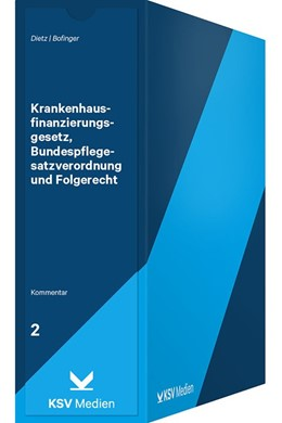 Abbildung von Dietz / Bofinger | Krankenhausfinanzierungsgesetz, Bundespflegesatzverordnung und Folgerecht | 1. Auflage | 2020 | beck-shop.de