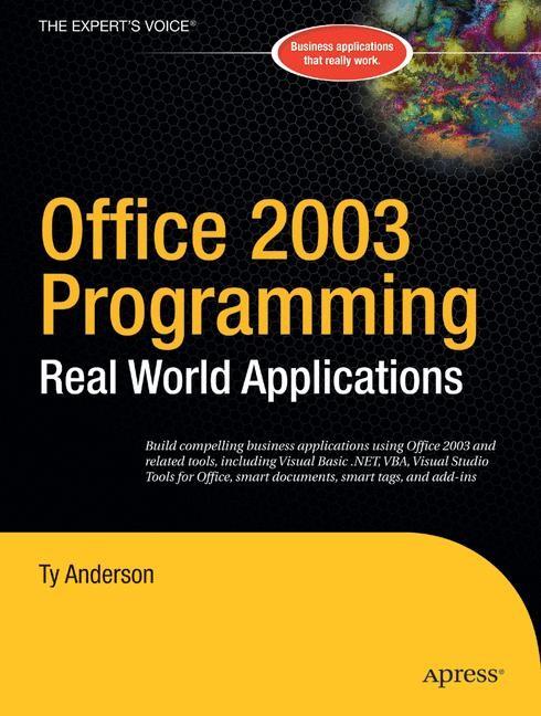 Abbildung von Anderson   Office 2003 Programming   1st ed.   2004