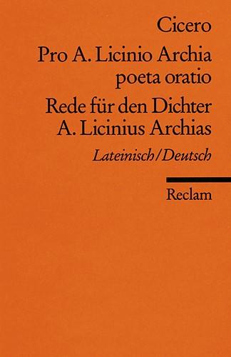 Pro A. Licinio Archia poeta oratio / Rede für den Dichter A. Licinius Archias, 1979 | Buch (Cover)