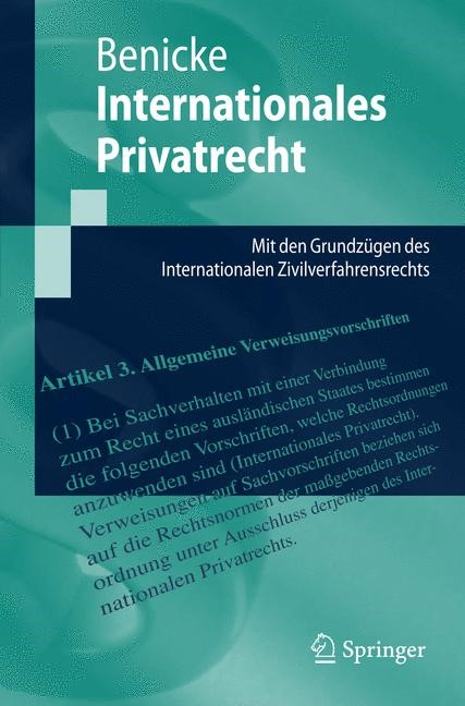 Internationales Privatrecht | Benicke, 2019 | Buch (Cover)