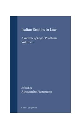 Abbildung von Pizzorusso | Italian Studies in Law | 1992