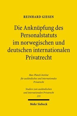 Abbildung von Giesen | Die Anknüpfung des Personalstatuts im norwegischen und deutschen internationalen Privatrecht | 2010 | 235