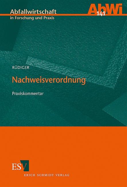 Nachweisverordnung | Rüdiger, 2009 | Buch (Cover)
