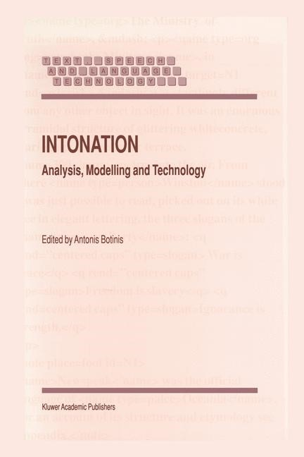 Intonation | Botinis, 2000 | Buch (Cover)