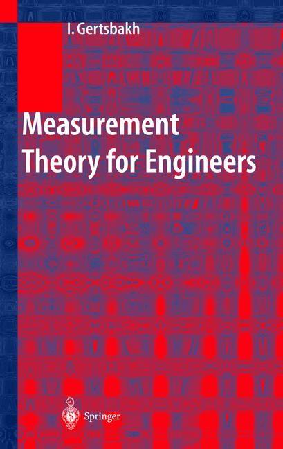 Abbildung von Gertsbakh   Measurement Theory for Engineers   2003