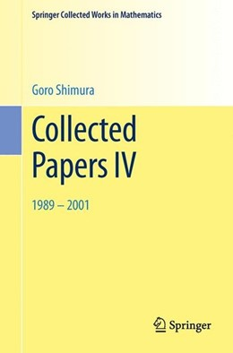 Abbildung von Shimura | Collected Papers IV | 2002 | 1989-2001
