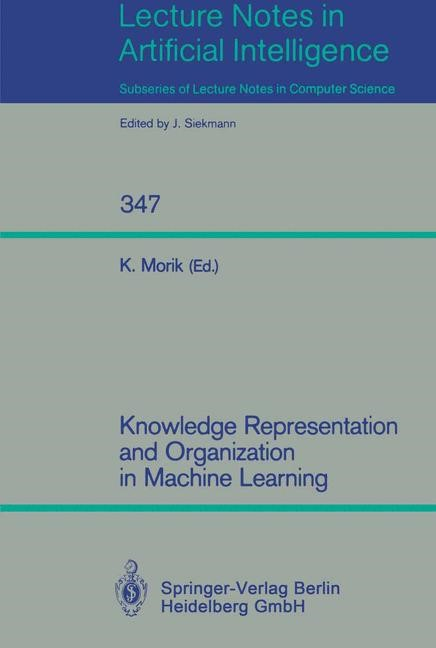 Knowledge Representation and Organization in Machine Learning | Morik, 1989 | Buch (Cover)