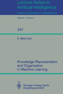 Abbildung von Morik | Knowledge Representation and Organization in Machine Learning | 1989