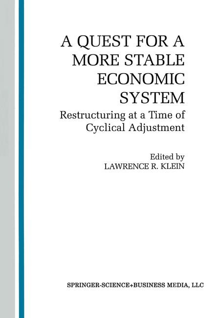 A Quest for a More Stable World Economic System | Moriguchi / Klein / Amano, 1993 | Buch (Cover)