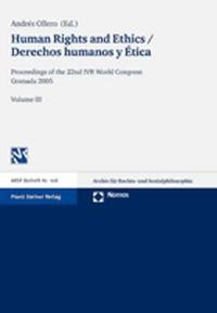 Human Rights and Ethics / Derechos humanos y Ética | Ollero, 2007 | Buch (Cover)