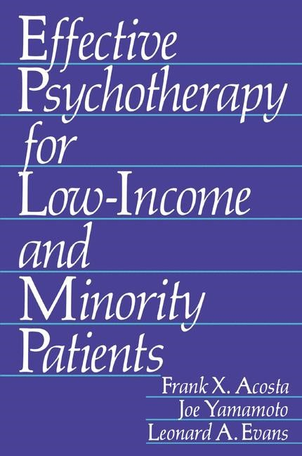 Effective Psychotherapy for Low-Income and Minority Patients | Acosta / Yamamoto / Evans, 1982 | Buch (Cover)