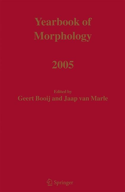 Yearbook of Morphology 2005 | Booij / Marle | 1st Edition. Softcover version of original hardcover edition 2005, 2010 | Buch (Cover)