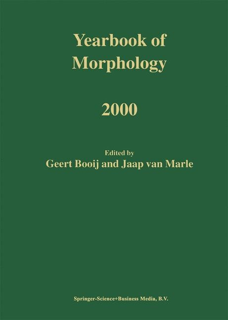 Yearbook of Morphology 2000 | Booij / van Marle | 1st Edition. Softcover version of original hardcover edition 2001, 2010 | Buch (Cover)