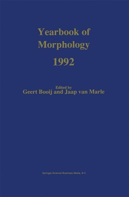 Abbildung von Booij / van Marle | Yearbook of Morphology 1992 | 1992 | Theme: The Nature of Morpholog...