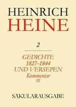 Abbildung von Böhm | Gedichte 1827-1844 und Versepen. Kommentar III | 1998