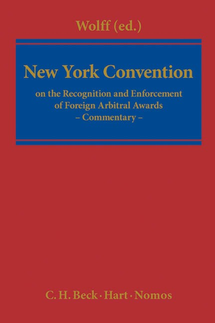 New York Convention | Wolff, 2012 | Buch (Cover)