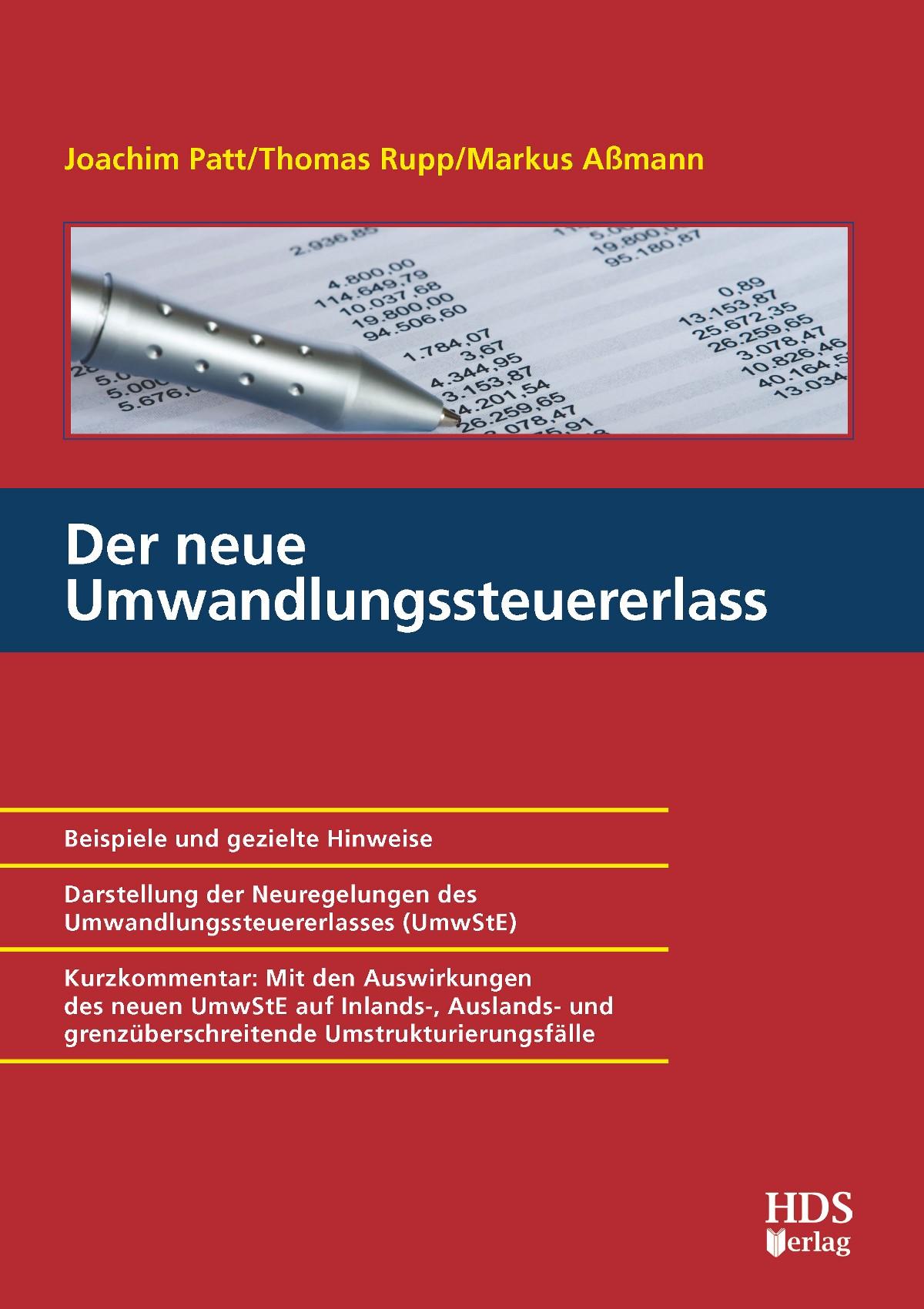 Der neue Umwandlungssteuererlass | Patt / Rupp / Aßmann, 2011 | Buch (Cover)