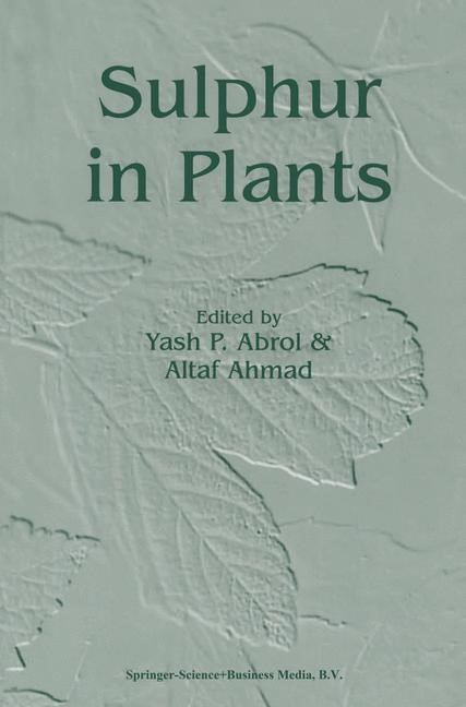 Sulphur in Plants | Abrol / Ahmad | 1st Edition. Softcover version of original hardcover edition 2003, 2010 | Buch (Cover)
