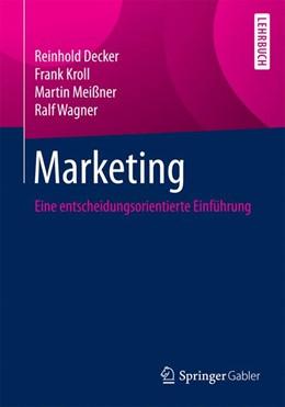 Abbildung von Decker / Kroll | Marketing | 1. Auflage | 2016 | beck-shop.de