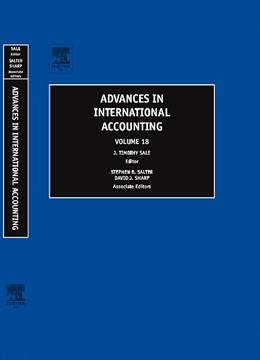 Abbildung von Sale | Advances in International Accounting | 2005 | 18