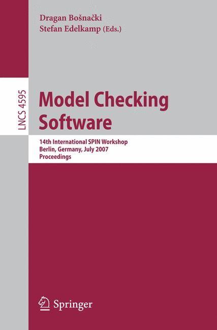 Model Checking Software | Bosnacki / Edelkamp, 2007 | Buch (Cover)