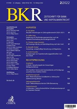 Abbildung von BKR • Zeitschrift für Bank- und Kapitalmarktrecht | 18. Auflage | 2020 | beck-shop.de